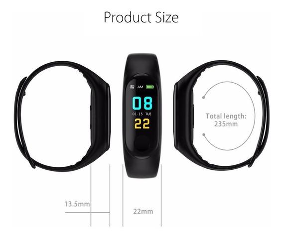 Relógio Inteligente Frequência Cardíaca Pressão Black