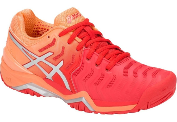 Tenis Asics Gel Resolution 7 Mujer Comodos Tennis Gym