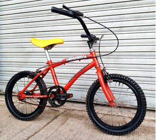 Bicicleta Niños Niñas Roja Rodado 16 Excelente.