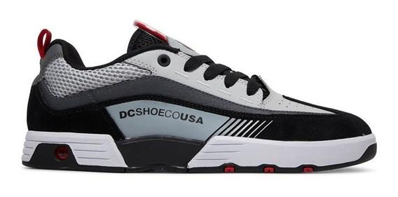 Tênis Dc Shoes Legacy 98 Slim Imp Black Grey Red Adys100445x