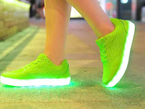 Tenis Led Multi Colores Recargables