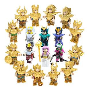 18 Figura Armable Caballeros Del Zodiaco Compatible Bloques