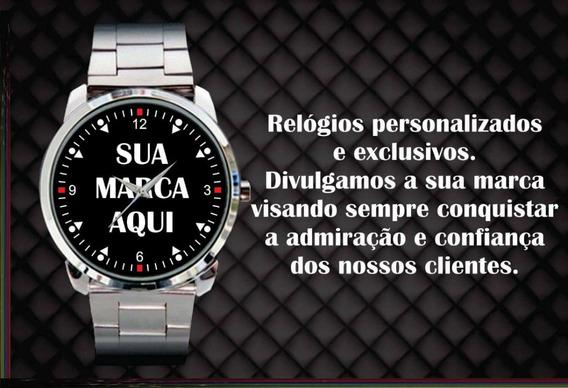 Kit 3 Relógios De Pulso Personalizados Sua Empresa Logo Foto