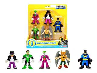 Set 5 Muñecos Imaginex Dc Super Friends Batman Guason