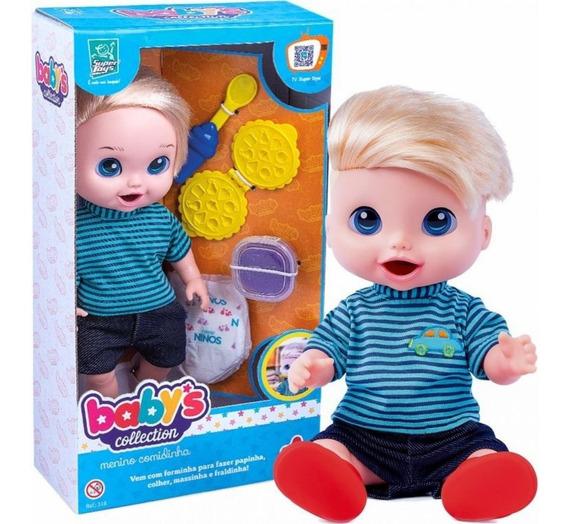 Boneco Babys Collection Come E Faz Caquinha - Supertoys