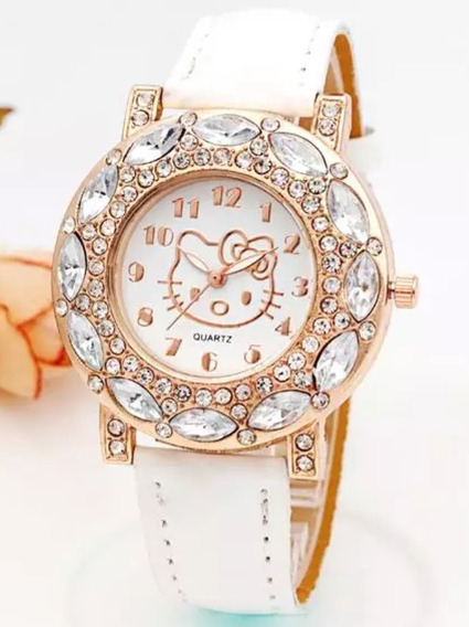 Relógio Infantil Meninas Hello Kitty Qualidade Oferta