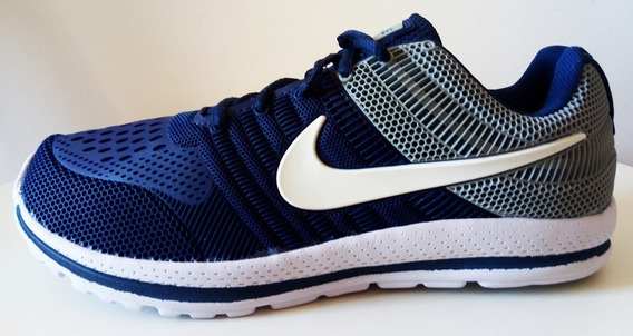Tenis Nike Nº 42 Azul Marinho Branco Super Leve Usado 1 Hora
