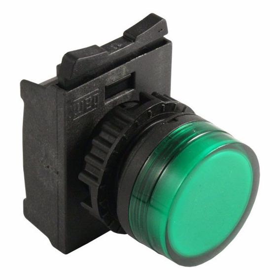 Frontal Sinaleiro Difuso Verde 22mm Weg Csw-sd2 Kit 5pçs