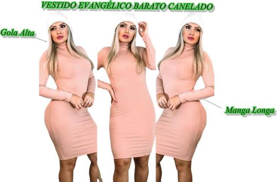 Kit Vestido Evangélico + Blusinha + Brinde Atacado Barato