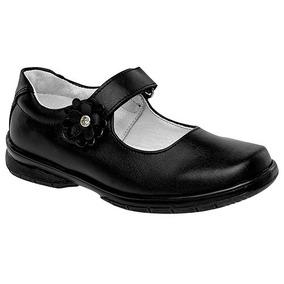 Zapatos Escolar Casual Dama Negro Yondeer Piel Udt U27816