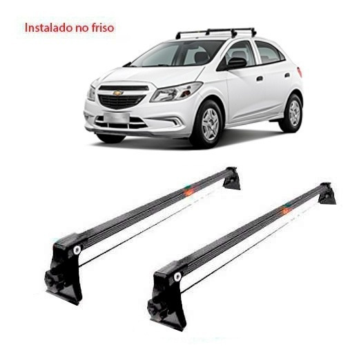 Rack De Teto Bagageiro Aço Chevrolet Onix 2015