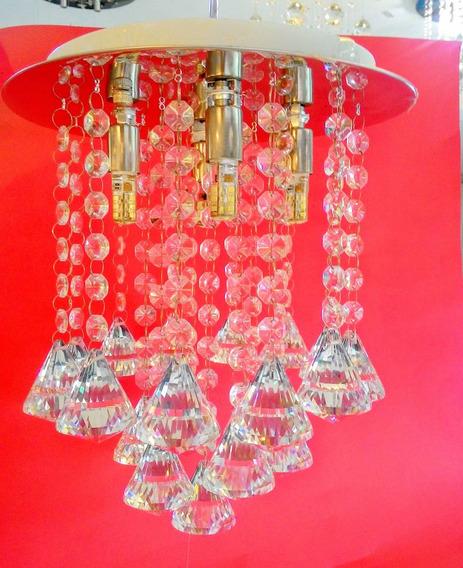 Lustre Plafon Pendente Cristal Egipcio Asfour Redondo