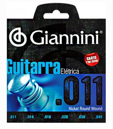 Imagem 1 de 3 de Encordoamento Giannini Geegst  011 Para Guitarra