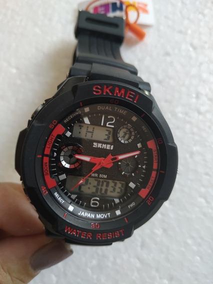 Relógio Analógico E Digital Skmei Produto Novo