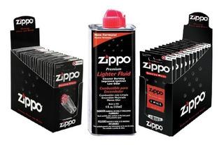 Paquete Zippo Gasolina 4 Oz Mecha Piedras Envío Gratis