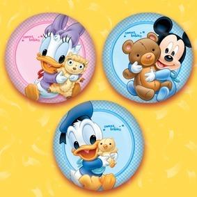 32 Botones Pin Mickey Y Minnie Disney Baby Babies Distintivo