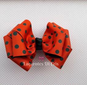 Laço Grande Menina Infantil Roupa Ladybug Festa Ladybug