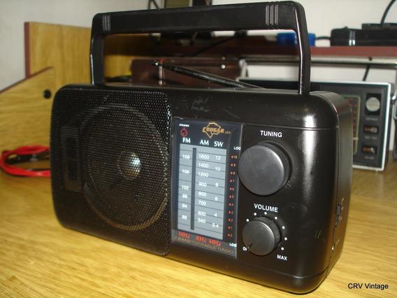 Radio Portátil Antigo Cougar Ac-110s