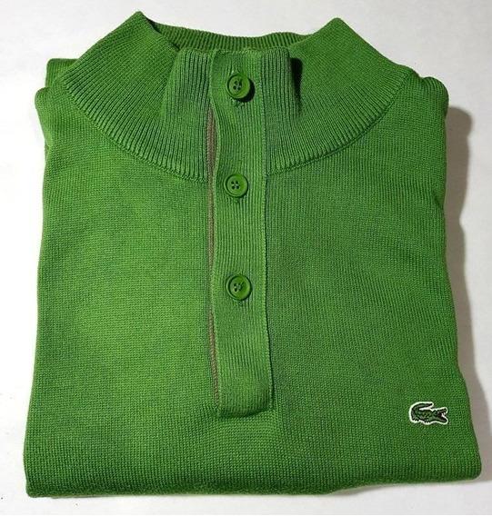 Sweter Lacoste De Algodon Importado Original Talle 8 Como Nuevo