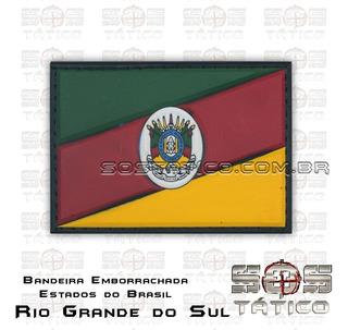 Bandeira Do Rio Grande Do Sul Emborrachada + Fixadores