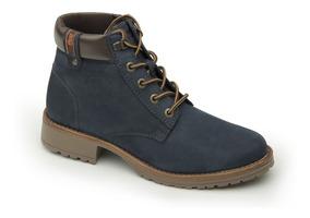 Zapato Flexi Azul Dama Botín Casual 25523