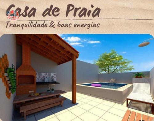 Imagem 1 de 7 de Casa Com Piscina E Área Verde Lado Praia À Venda, 64 M² Por R$ 299.000 - Balneário Jardim De Itanhaém (f/grandesp) - Itanhaém/sp - Ca5326