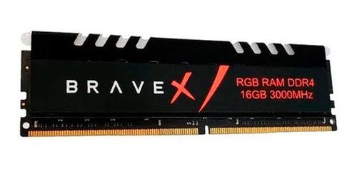 Imagem 1 de 1 de Memória Bravex 16gb Rgb Ddr4 3000mhz - Bas84u6dw