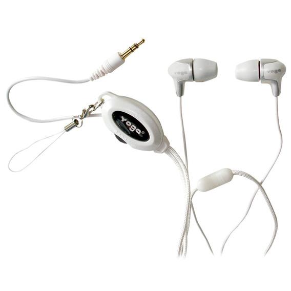 Fone De Ouvido In-ear Yoga Cd 368 Branco - Em Oferta 12x