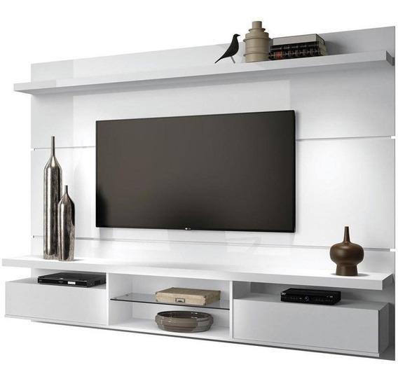 Painel De Tv 60 Suspenso Bancada Livin 2.2 Branco Hb Móveis