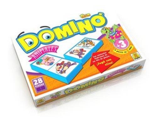 Imagen 1 de 2 de Domino Animales 28 Piezas Implas. Art 8