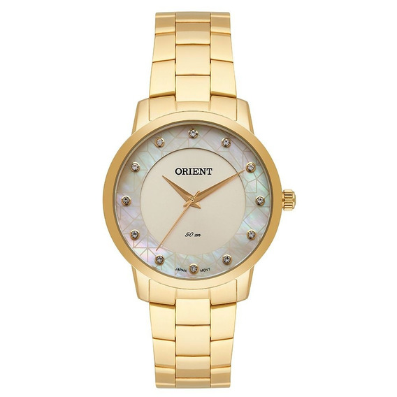 Relógio Feminino Orient Dourado Fgss0112 S1kx= 40
