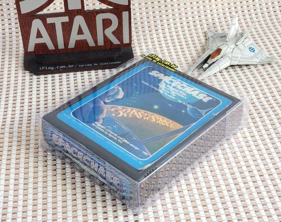 Spacechase [ Atari 2600 ] Blue Label + Case - Colecionador