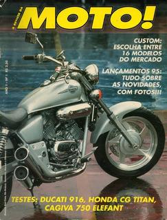 Moto! N°1 Ducati 916 Honda Cg 125 Titan Cagiva 750 Elefant