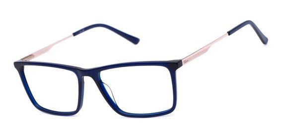Armação Oculos Ogrife Og 1755-c Masculino Com Lente Sem Grau