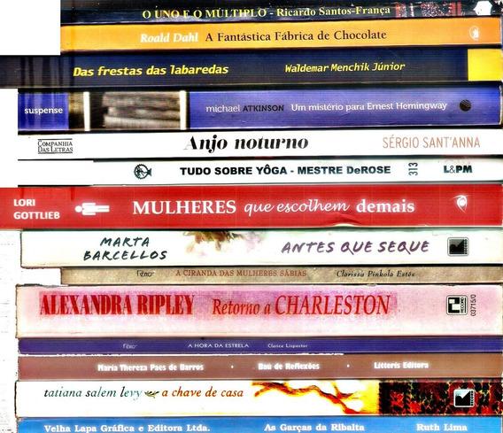 Lote 14 Livros Auto Ajuda Policial Romance Ação Humor Poesia