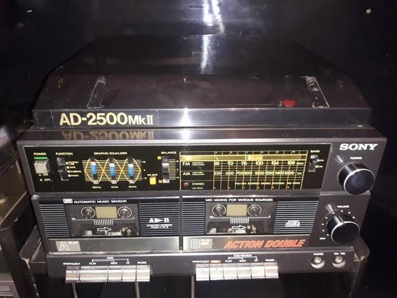 Som Antigo Sony 3x1 Ad-2500mk2 Ad Mk 2500 Bonito Ñ Funciona