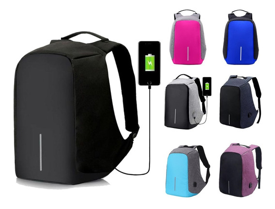 Mochila Antirrobo Inteligente Impermeable Con Usb - Notebook