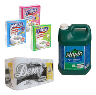 Kit Limpieza Pastilla Sanitaria Papel Higiénico Hipoclorito