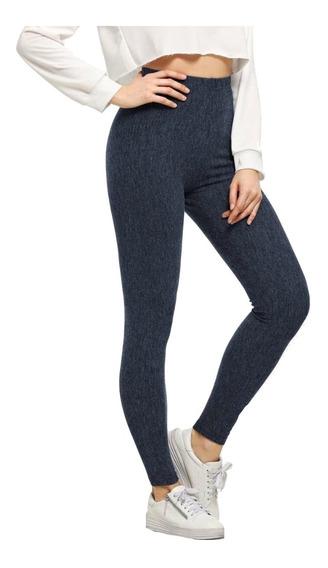 Leggings Jeans Mujer Tejidos De Cintura Alta Aona