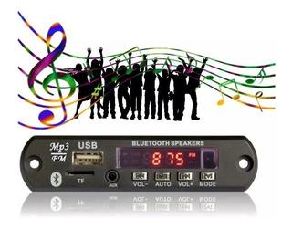 Placa Mp3 C/ Usb Bluetooth + Mini Amplificador 2 Canais 15w