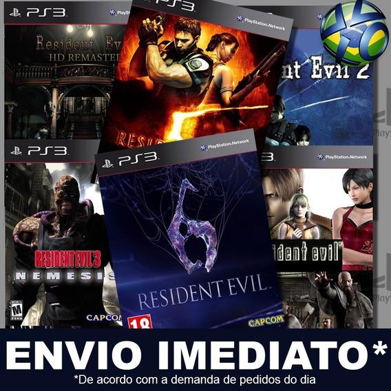 Resident Evil Combo Com 10 Jogos Ps3 Psn Promoção Play 3
