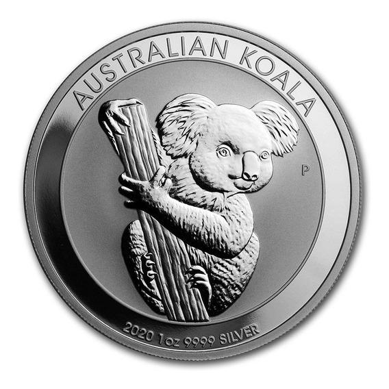 Moneda Onza Plata Fina Sc Australia Koala 2020 Con Cápsula