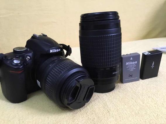 Câmera Nikon D5000 + 2 Lentes + 2 Bateria + Bolsa