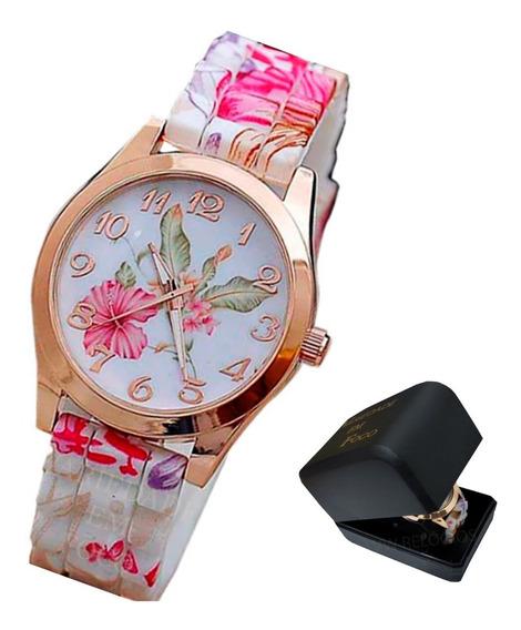 Relógio Barato Feminino Confortável Pulseira Macia