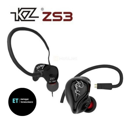 In Ear Audífonos Kz Zs3 Original Hifi Doble Driver