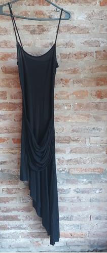 Vestido Negro Corte Transversal Talle M Marca Tabatha Night