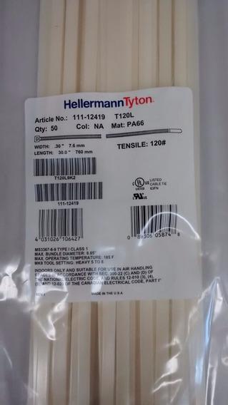 Abraçadeira Hellermann 390x7,6mm C/ 100 Natural - T120r