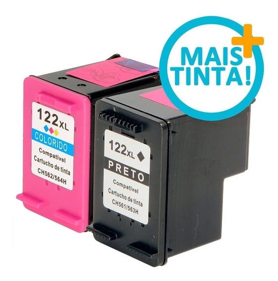 122xl Preto(23ml) E 122 Color (12m) Cheios