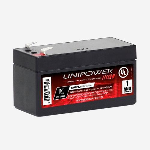 Bateria Selada 12v 1,3ah Unipower Up1213 1.3 Vida Util 2anos