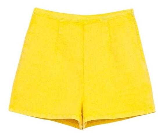 Short Zara De Algodon Elastizado